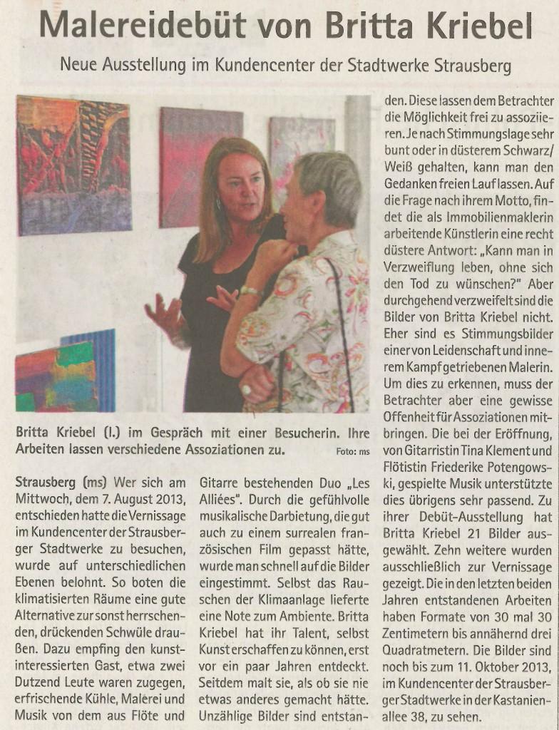 Ausstellung Britta Kriebel